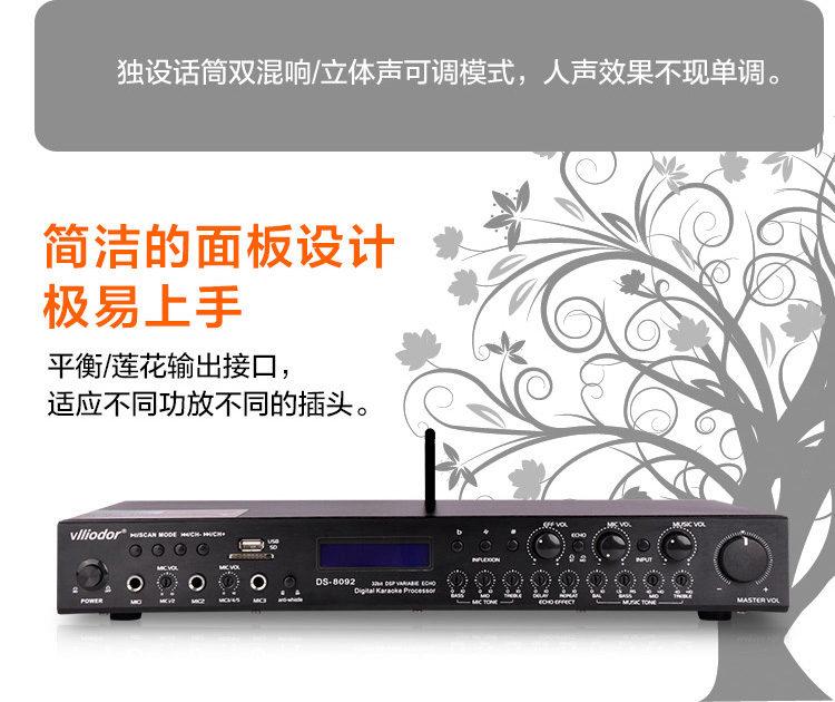 DS-8082蓝牙双数字KTV专用高级前置混响